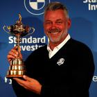 Big task: Europe captain Darren Clarke hopes to be holding the trophy for real this time next week