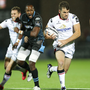 Striding forward: Ulster's Jared Payne leads the charge against Glasgow