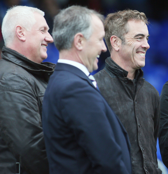 Dramatics: Jimmy Nesbitt saw Coleraine's late revival against Glenavon at the weekend.