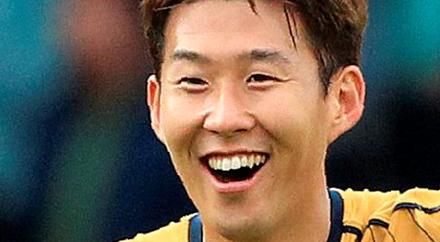 Feeling good: Son Heung-min is enjoying life at Tottenham