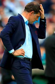 Sinking feeling: West Ham manager Slaven Bilic
