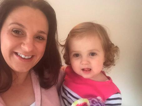 Diane Duffy from Belfast, with her daughter Arabella