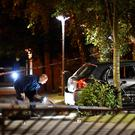 Police in Sweden were on high alert last night after an explosion rocked Malmo within two hours of a gun attack. Photo: Emil Langvad/TT via AP
