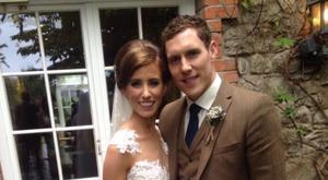 John McAreavey and bride Tara Brennan: Source Facebook