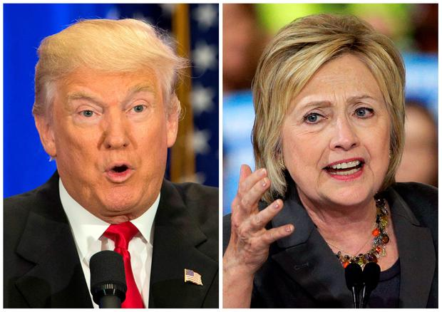 US presidential candidates Donald Trump, left, and Hillary Clinton. (AP Photo/Mary Altaffer, Chuck Burton, File)