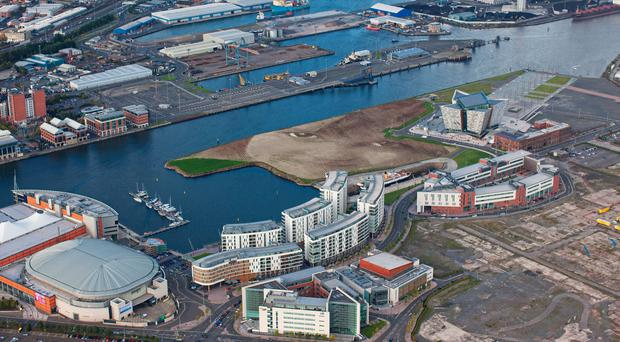 An aerial view of the Titanic Quarter where Titanic Island Ltd has been behind the development of a range of facilities, including Titanic Belfast