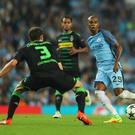 Motivated: City midfielder Fernandinho says they need to be fully focused against Celtic