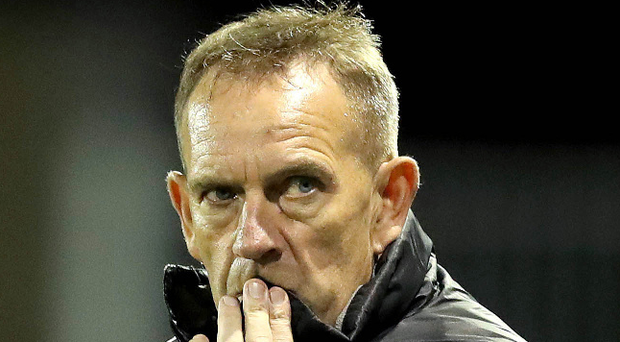 Determined: Kenny Shiels is after a vital victory tonight