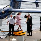 The Duke and Duchess of Cambridge arrive by seaplane in Vancouver Harbour, as they start Day Two of their tour of Canada.Andrew Milligan/PA Wire