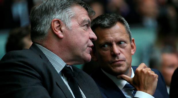 Rise and fall: Sam Allardyce was appointed by Martin Glenn (right) who was more than happy to let him go just three months after his hiring to avoid being the focus of attention