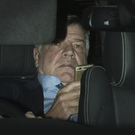 Making an exit: Sam Allardyce leaves Wembley last night after terminating his contract as England manager by mutual consent