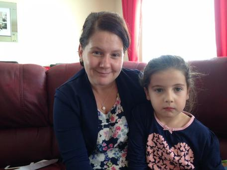 Connla and mum Maria. Pic BBC