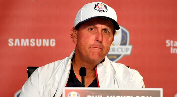 Big role: Phil Mickelson is enjoying having an input in Team USA. Photo: Ross Kinnaird/Getty Images