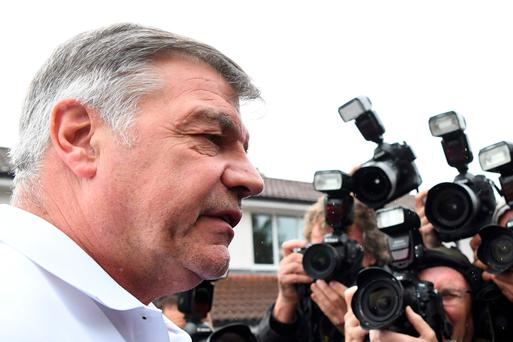 Hitting out: Sam Allardyce claimed 'entrapment had won'