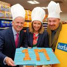 Paddy Doody, from the Henderson Group, Claire McCollum and Derek Hall from Tearfund hoping to raise £165,000 to provide 1 million meals for families in West & Central African countries.