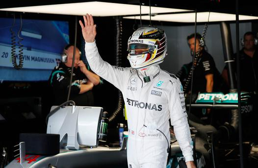Heat is on: Lewis Hamilton insists he has less to lose as he aims to catch title rival Nico Rosberg
