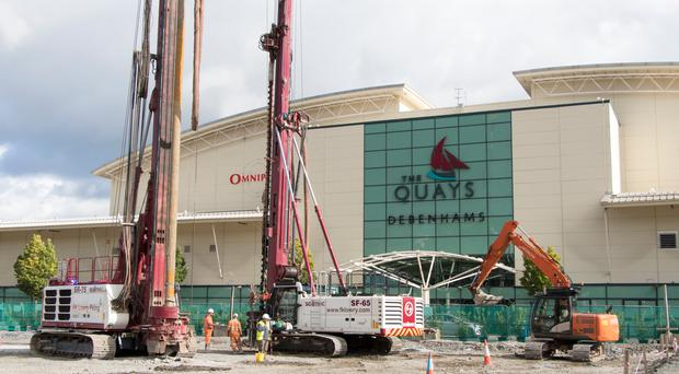 The £20m expansion at The Quays has begun