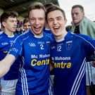 All smiles: Scotstown's Paul Sherlock and Sean Mohan celebrate