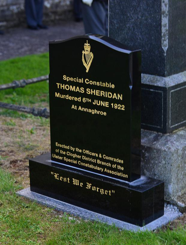 The new headstone