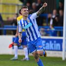 Hit man: Jordan Allan came off the bench to bag a double