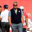 Still standing: Ryder Cup captain Darren Clarke reflects after Europe's 17-11 defeat to the USA