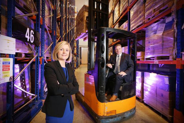 Rhona Barbour, senior portfolio manager at WhiteRock Capital Partners and Eugene Carson, managing director of Ardboe Coldstore Ltd