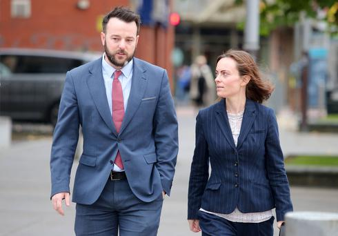 Local MLAs and victims campaigner start legal challenge to Brexit today at the the High Court in Belfast. They argue that the vote to leave the European Union goes against the Good Friday Agreement and will also effect EU money for victims of the troubles. SDLP leader Colum Eastwood(left) enters the High Court along with party colleague Nichola Mallon. Picture by Jonathan Porter/Press Eye