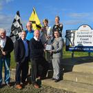 Winners: Vauxhall International North West 200 Event Director, Mervyn Whyte, MBE, receives the Investing in Volunteers Award from Wendy Osborne, OBE, CEO of Volunteer Now. Included are Mayor of Causeway Coast and Glens, Cllr Moira Hickey, Caron Young, Public Relations Officer CCAGBC and NW200 volunteers Cathal Cunning, Sean Canny and Mervyn Lyttle
