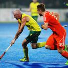 Hotshot: Banbridge will be facing revered Aussie striker Glenn Turner (pictured in yellow)