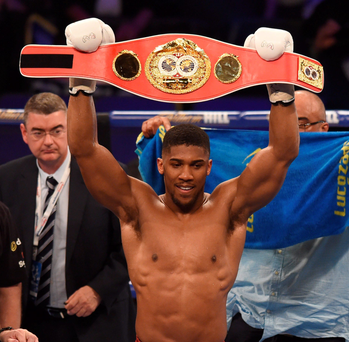 Big fight: Anthony Joshua could defend his IBF heavyweight title against Wladimir Klitschko