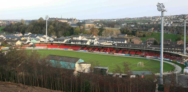 Trouble flared outside the Derry City's homeground, the Brandywell.