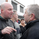 'Dee' Fennell turns his ire on Fr Gary Donegan in Ardoyne at the weekend