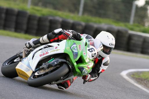 Clear aim: Nikki Coates is determined to press home his advantage and clinch the Irish Superbike crown in Enniskillen