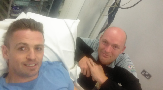 Kevin McHugh tweeted a photo in hospital.