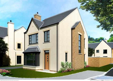 Artist's impression of new houses at the proposed Ferrard Meadow site