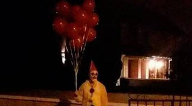 A clown spotted in Darndale in Dublin. Picture: Paul Quinn Jr Facebook