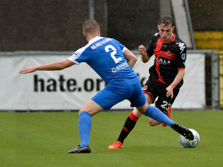 On the up: Crusaders winger Gavin Whyte will be looking to impress against Livingston tonight