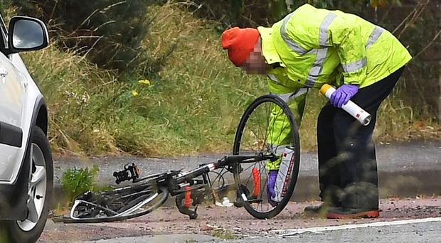 Police sealed off the dual carriageway as forensic experts examined the scene