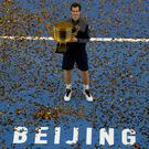 Victor again: Andy Murray with the huge trophy after his straight sets win over Gregor Dimitrov