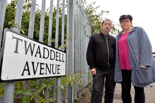 Twaddell residents Alfie McCrory and Evelyn Bennett