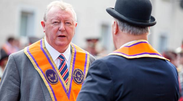 Grand Secretary of the Grand Orange Lodge of Ireland Drew Nelson has died.