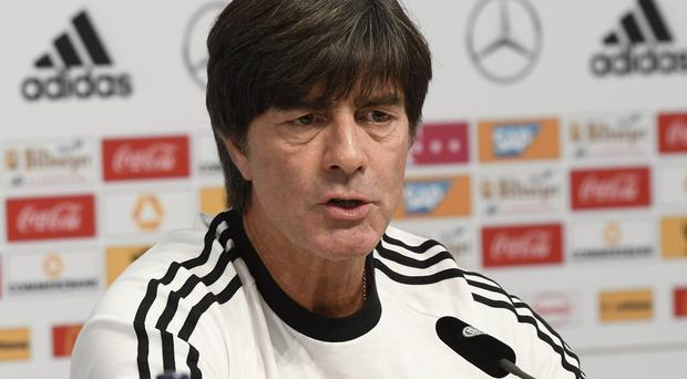 Germany manager Joachim Löw during a Press conference at the Hannover Arena in Hannover, ahead of Northern Ireland's World Cup Qualifier against Germany on Tuesday evening. Photo Colm Lenaghan/Pacemaker Press