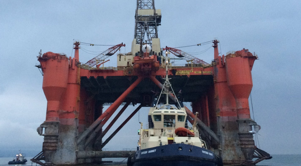 The giant rig will head to Turkey to be scrapped