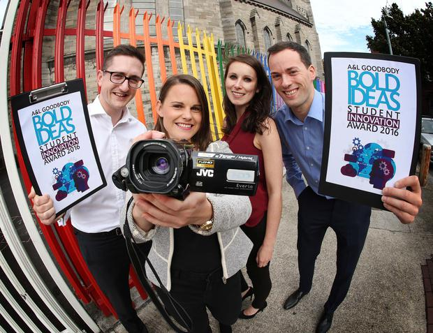 David Gilmartin, Elizabeth Colvin, Aisling McDonnell and Stephen Egan at the launch of A&L Goodbody's Bold