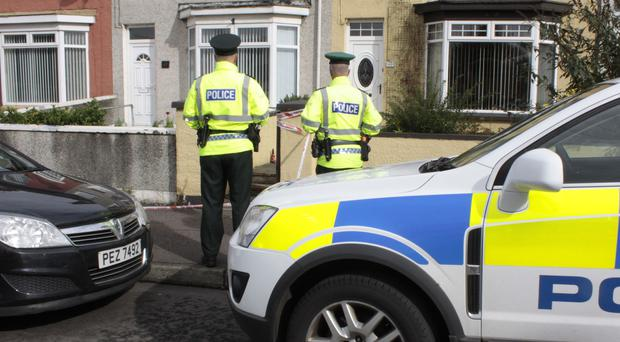 Police at the scene on the Ballycastle Road Coleraine in September