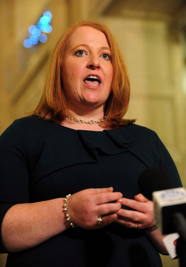 First Minister Arlene Foster has been criticised for her temper by Alliance's Naomi Long (pictured)