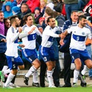 We've scored: San Marino celebrate their first away goal in 15 years
