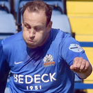 Brace: Guy Bates scored two for Glenavon last night
