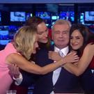 The Sky News Sunrise team bids Eamonn Holmes a fond farewell. Screengrab from Sky News