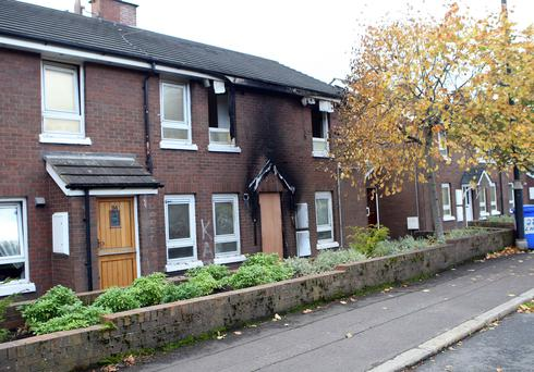 The fire caused significant damage to the home. Picture: Freddie Parkinson Press Eye